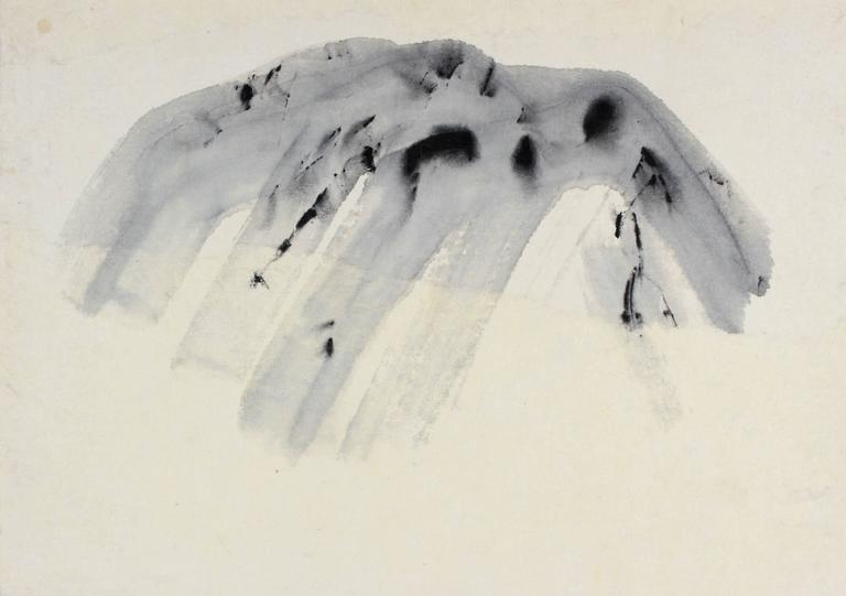 """The Mountain Speaks"" Ink Wash, 20th Century"