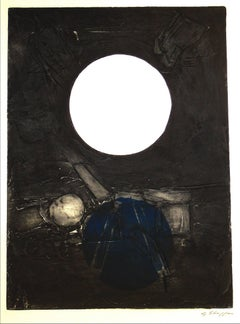 """Don Quixote"" Large Abstract Collograph, 1967"