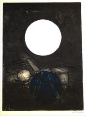 """Don Quixote"" Large Abstract Collograph, 1967"