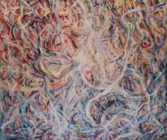 Large Abstract Expressionist Oil on Canvas