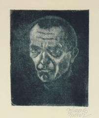 Secessionist Self-Portrait, Etching on Paper, Circa 1920
