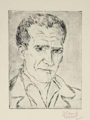 Secessionist Self-Portrait Etching, Circa 1920