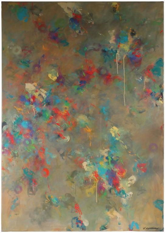 """Linda Symonds - """"Cacophony"""", Large Abstract Oil Painting, Late 20th Century 1"""