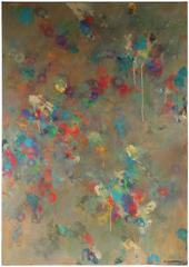 """Cacophony"", Large Abstract Oil Painting, Late 20th Century"