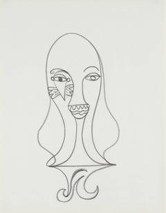 Surrealist Portrait in Graphite