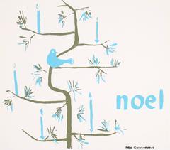 """Noel"" Christmas Serigraph, Circa 1960s"