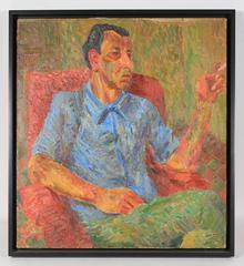 """Portrait of Nachman"" Expressionist Oil"