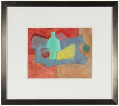"""""""Cheese and Wine"""" Cubist Still Life Painting, 2010"""