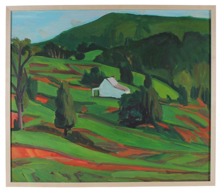 Hearne Pardee/ Gina Werfel Landscape Painting - Hillside with Farmhouse