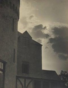 Castle & Clouds Photograph, Circa 1920