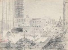 San Francisco City Scene in Graphite, Circa 1960s