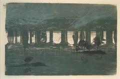 """Susquehanna Storm"" Large Woodcut"