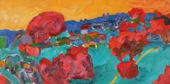 Bay Area Fauvist Landscape, Oil on Canvas, Late 20th Century