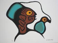 """XIV"" Indigenous Canadian Screen Print, Circa 1970s"