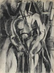 Cubist Figure in Charcoal