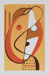 """Small Head"" Abstracted Serigraph Abstract, 1972"