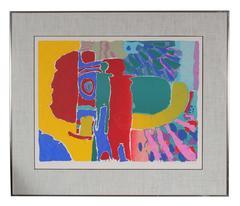 """""""Target Man (Red Man)"""" Serigraph on Paper, 1975"""