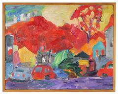 """""""Condos"""" Fauvist Bay Area Landscape in Oil, 2011"""