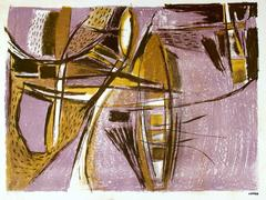 Mid Century Abstract in Lavender