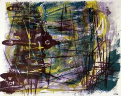Abstract Expressionist Lithograph, Circa 1950