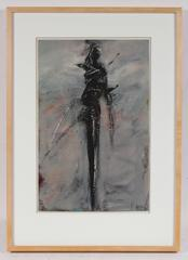 Expressionist Figure in Black and Gray