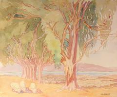 California Landscape with Eucalyptus