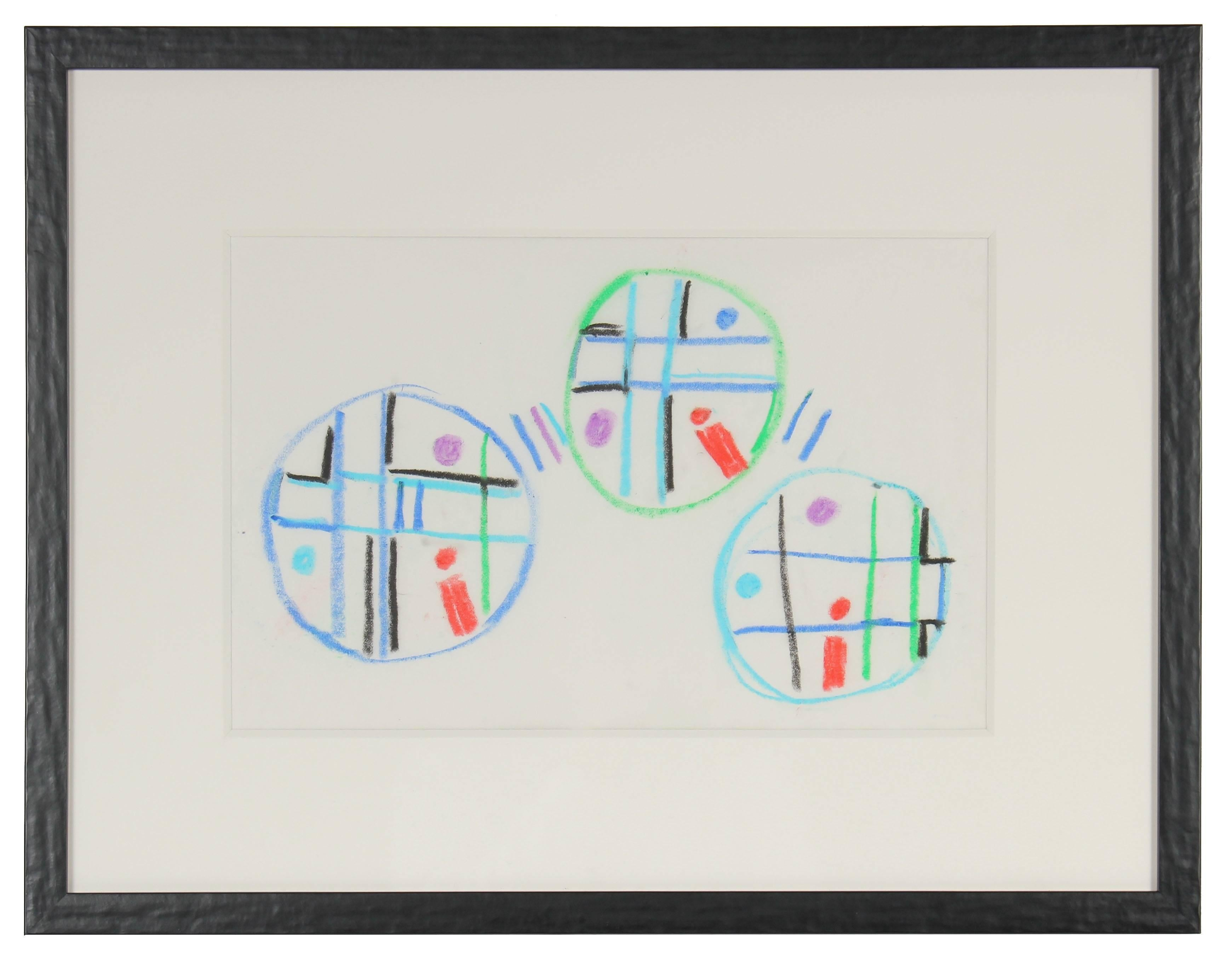 Modernist Geometric Abstraction in Pastel, Circa 1960s