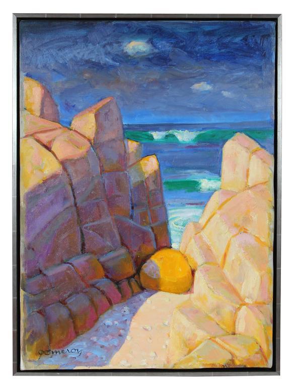Frederick Pomeroy Landscape Painting - Carmel, California Seascape, Mid Century Oil