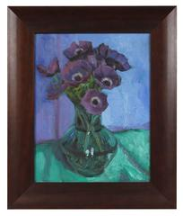 Still Life with Purple Poppies