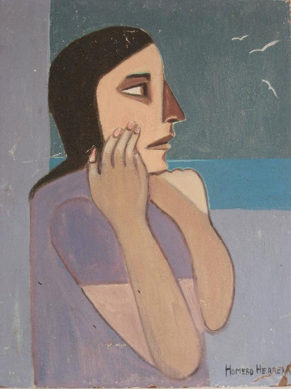 Homero Herrera - Modernist Female Portrait 1