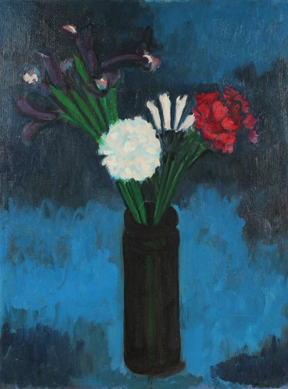 Pasquale Patrick Stigliani - Still Life with Iris and Carnation, Oil Painting, 1968 1