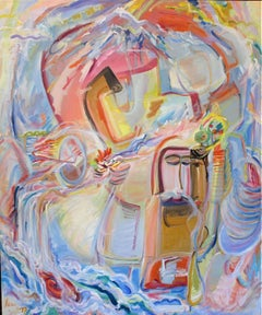 Large Abstract Expressionist Oil Painting, 1975-1977