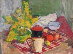 Still Life with Coffee and Fruit