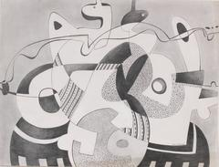 Geometric Abstract in Graphite