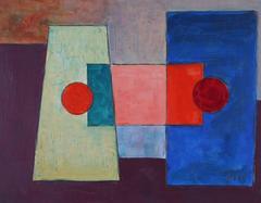 Geometric Abstract in Jewel Tones