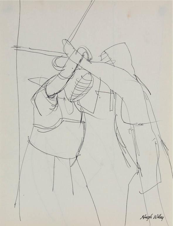 Fencing Match in Ink, 1966
