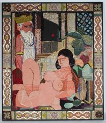 Grecian Scene textile Collage