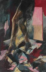 Woman in Heels, Large Oil on Canvas, 1984