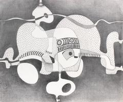 Surrealist Abstract in Graphite