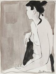 """Merav"" Ink & Charcoal Nude"