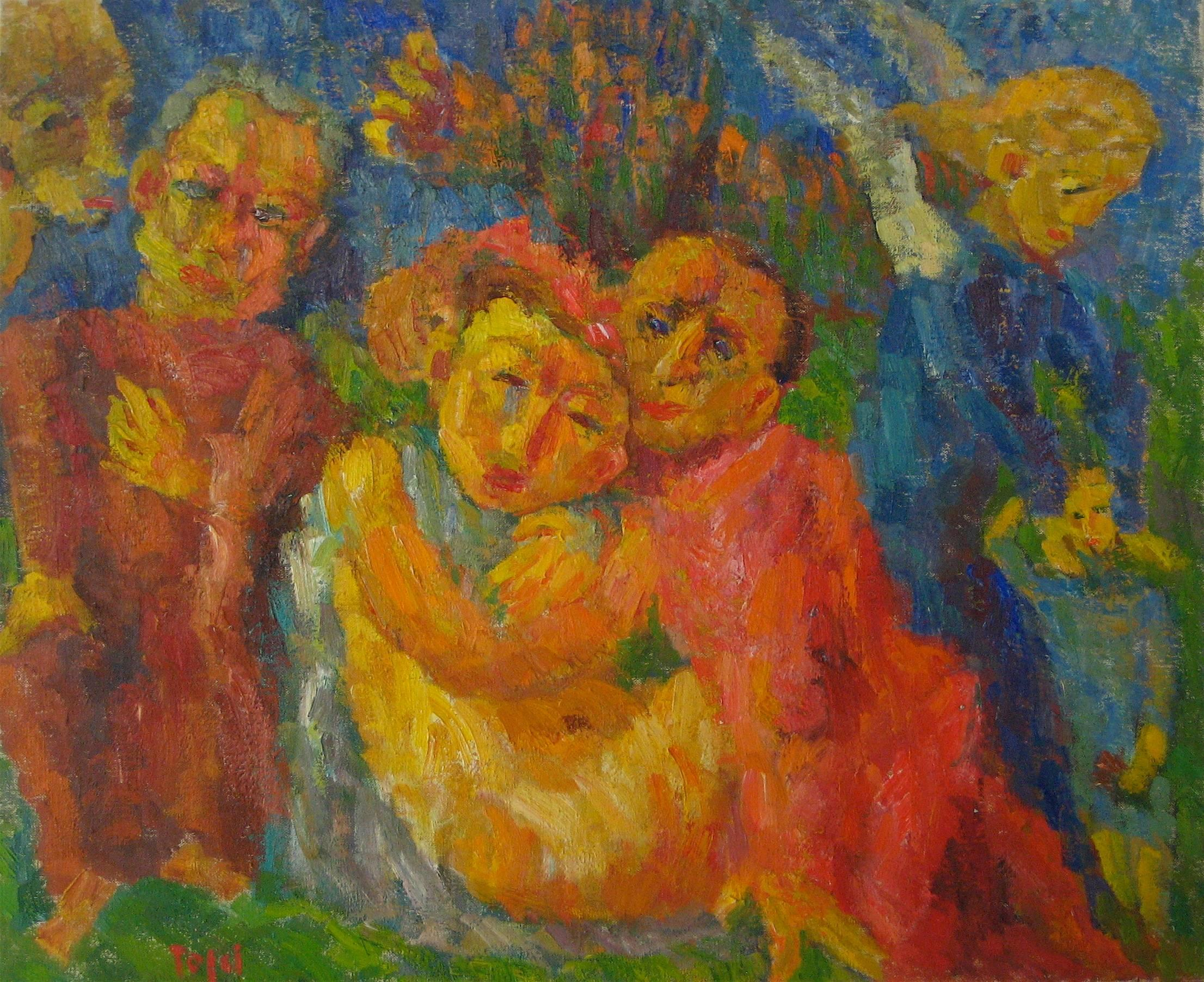 """""""Evil"""" Expressionist Figures in Oil, 1955"""