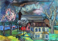 """Early Spring near Iroquois"", Montreal Landscape Painting, 1956"