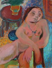 Expressionist Nude in Oil