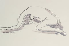 Monochromatic Nude Drawing in Ink, 1979