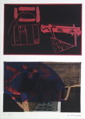 Abstract Expressionist Mixed Media Print, 1994