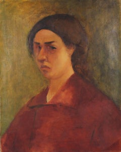 Portrait of Ethel Weiner Guttman, Oil on Linen, Circa 1930s