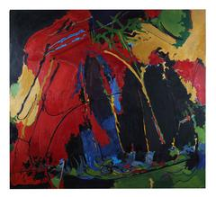 Large San Francisco Abstract Expressionist Canvas