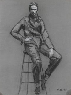 Portrait of a Pilot in Charcoal, 1941