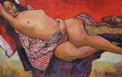 Modernist Figure in Bed