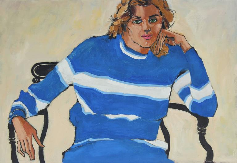 """Oakland, Linda"" Oil Painting Portrait, 1971"